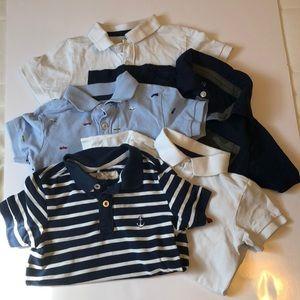H&M/GAP 5 Short Sleeve Polo T-shirts sz 2-4yrs